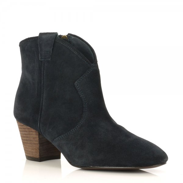 ac3f432a212 Spiral Suede Western Style Ankle Boots - Ash - Telegraph