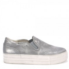 Ash Jungle Silver Gun Trainers