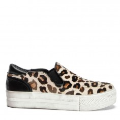Ash Jungle Leopard-Print Pony Skin Trainers