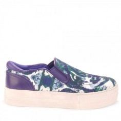 Ash Jungle Bis Safari Canvas Slip-On Trainers