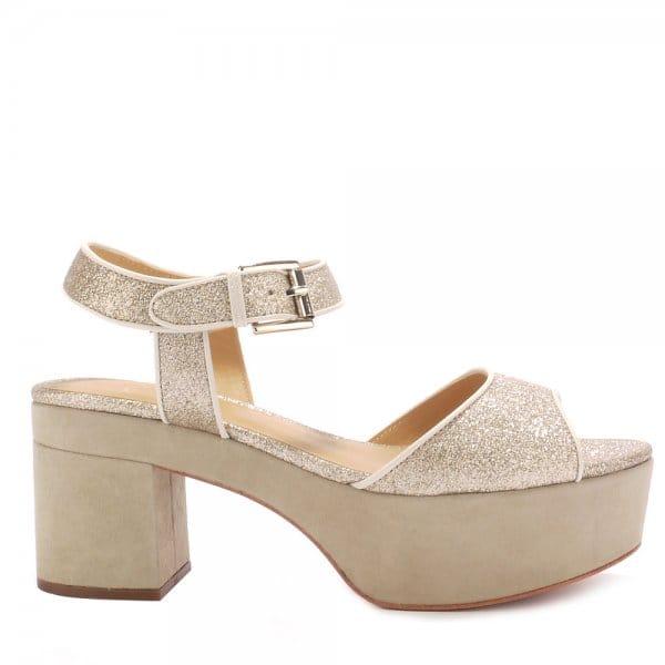 Ash CAPRICE BIS platine glitter sandals