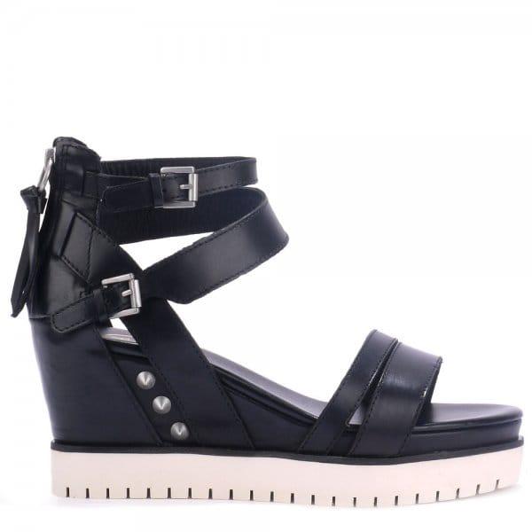 Ash PENELOPE black multi-strap sandals