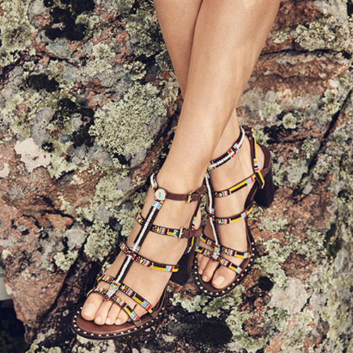 66023b48572bb LIZA Beaded Heeled Sandals in Brown Suede   Studs for £229.00 also  available in Black Suede is a must have for those summer nights out!