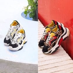 0190e944ff21 NEW IN ANIMAL PRINT ADDICT SNEAKERS