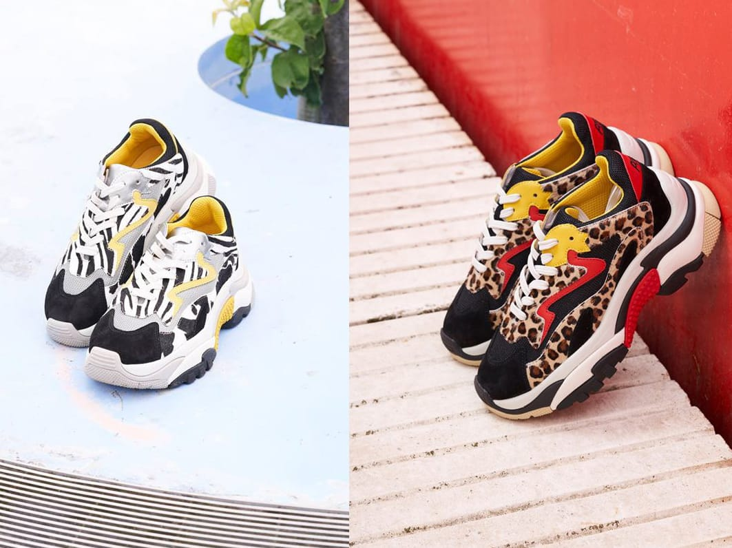 57b89afe29b ASH Official AW18 Collection has added more styles to the ADDICT  Collection.. Shop Animal Print Addict Sneakers available now!