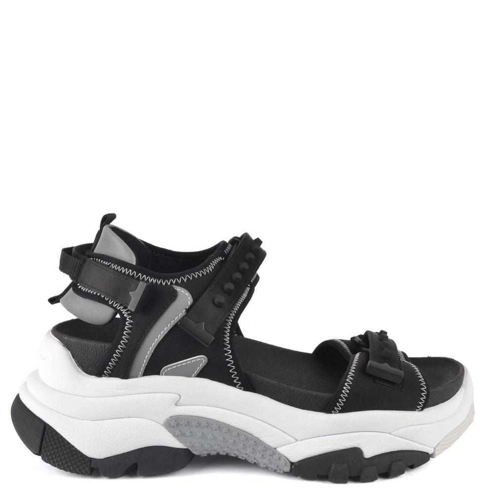 Ash Adapt   Black Chunky Sneaker