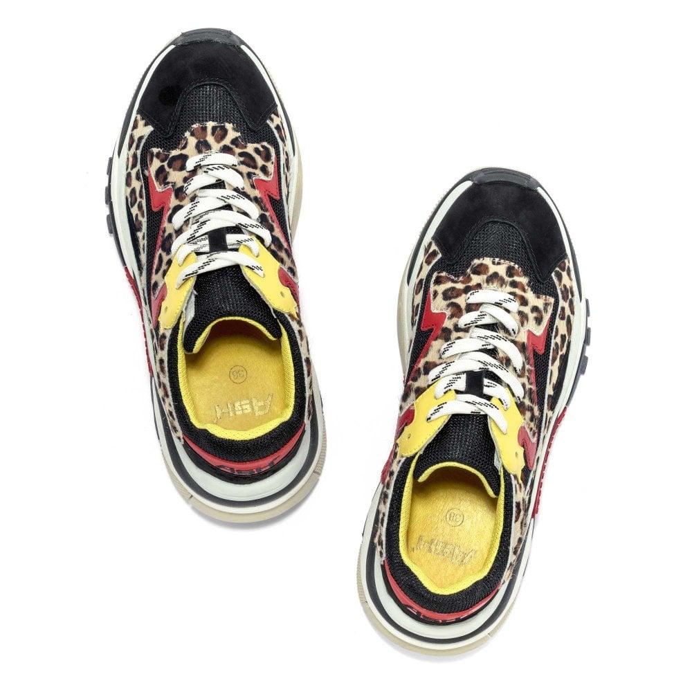 8eecf5739c62 ADDICT Sneakers Cheetah Print Pony Hair  amp  Black Mesh