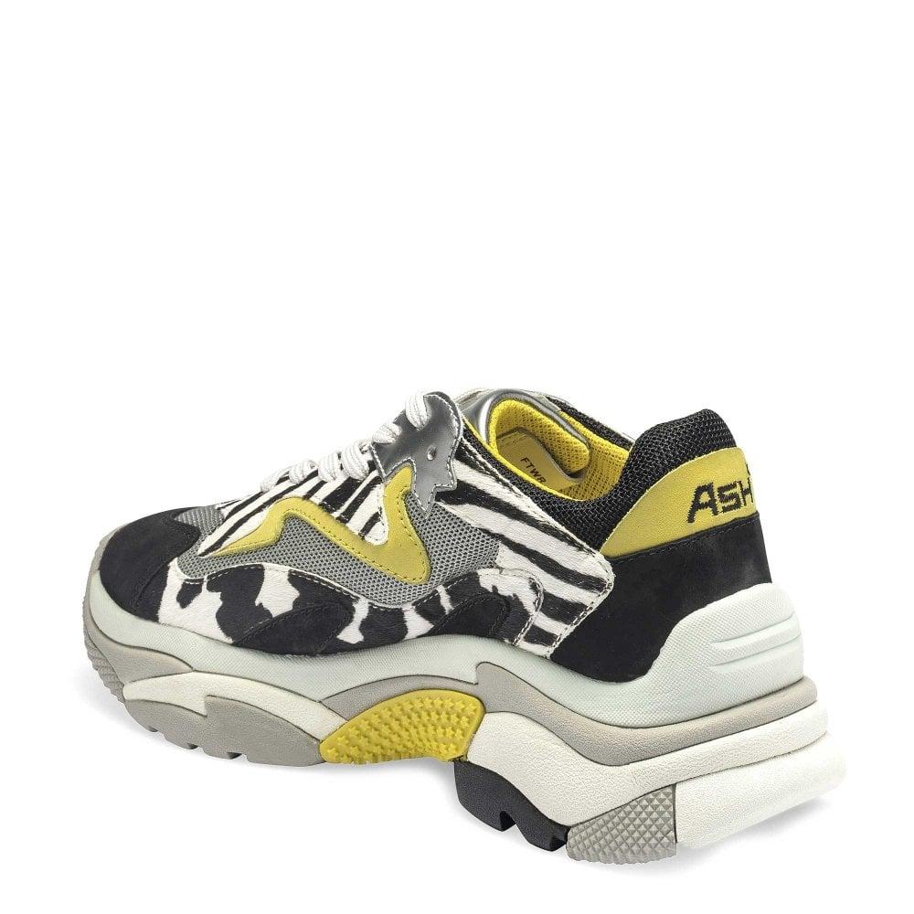 eda1f3d5236f ADDICT Sneakers Zebra Print Pony Hair  amp  Grey Mesh