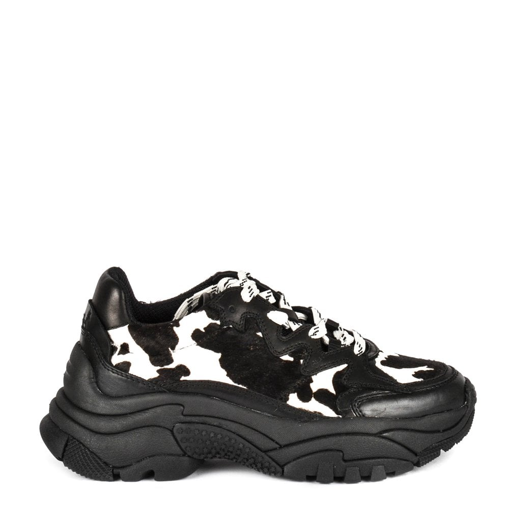 buy popular 9ec61 51729 ADDICTION Sneakers Black & White Pony Hair with Leather