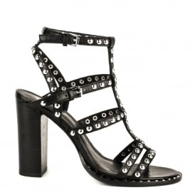 AMAZING Heeled Sandals Black Leather