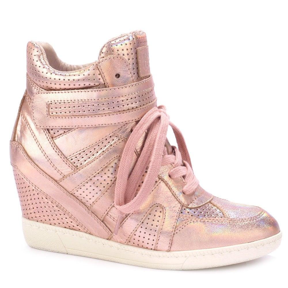 Ash Ash BECK pink metallic high-top