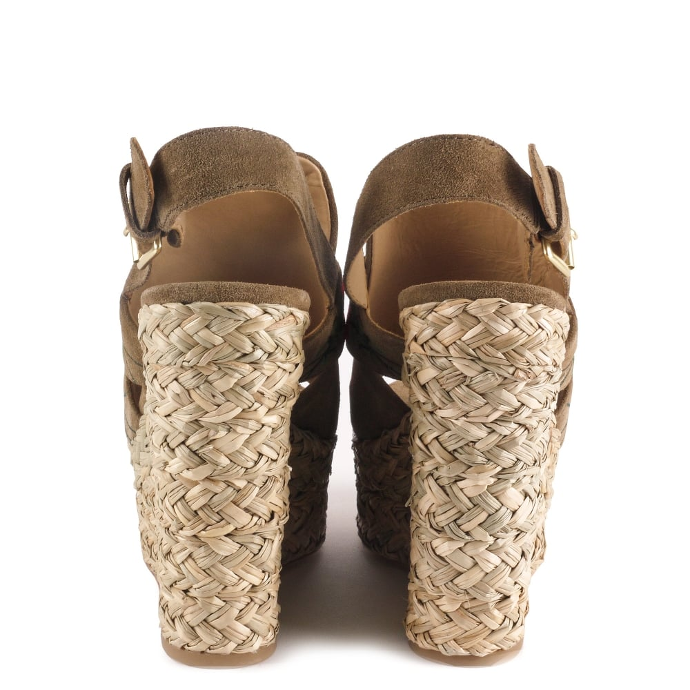 f8a6713f8027f Shop Ash Footwear Bikini Wedge Sandals In Suede Online Today