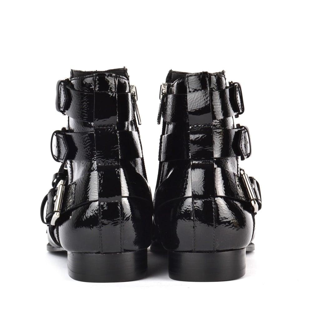 d9eaf1d839b2 Shop Ash Footwear for Black Vinyl Leather Blast Boots Online Today