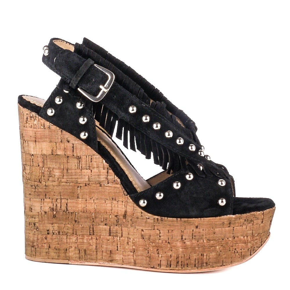 huge selection of great look most popular BLOSSOM Wedge Sandals Black Suede