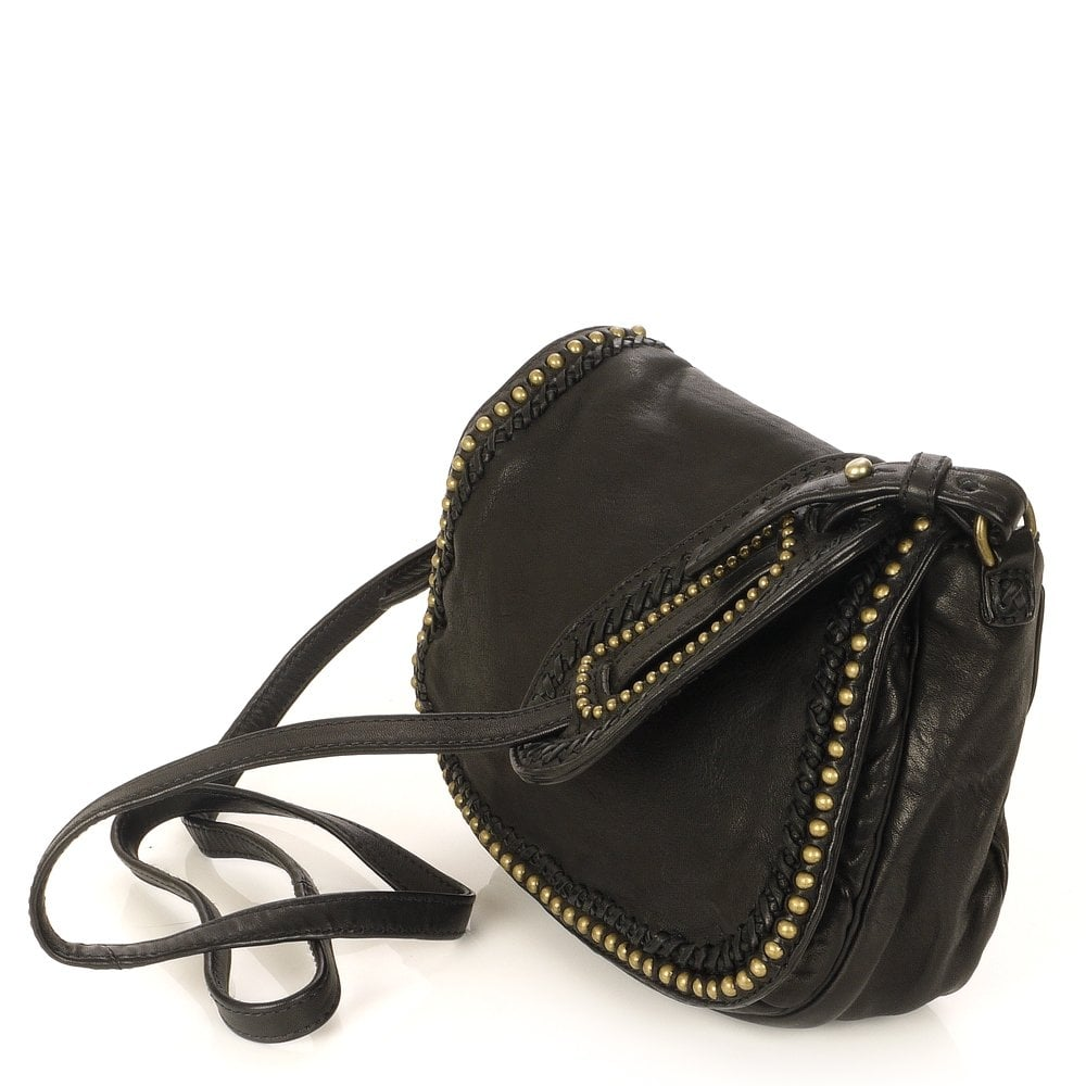 classic shoes meet best choice Bonnie Small Black Leather Cross Body Bag