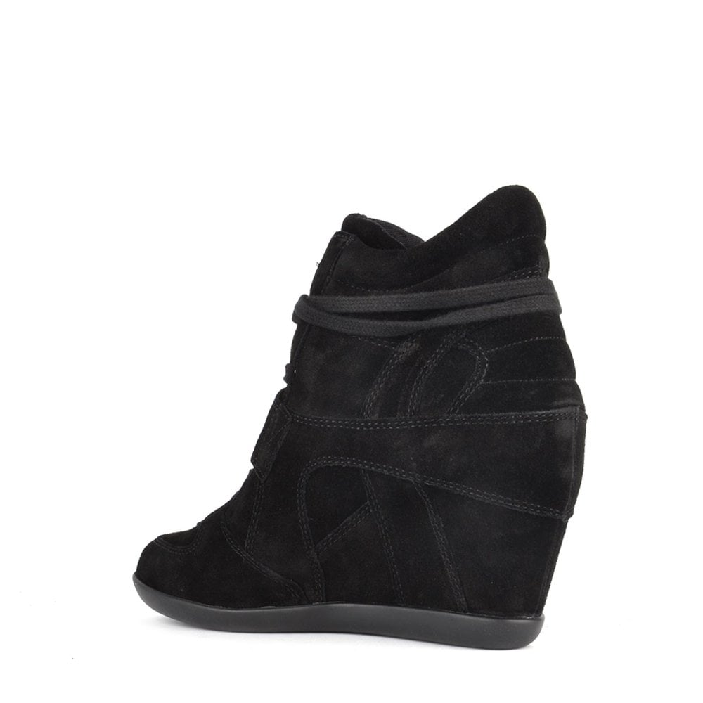 73390da41a1ba0 ASH Bowie Wedge Trainers in Black Suede | Discover ASH Official SS19