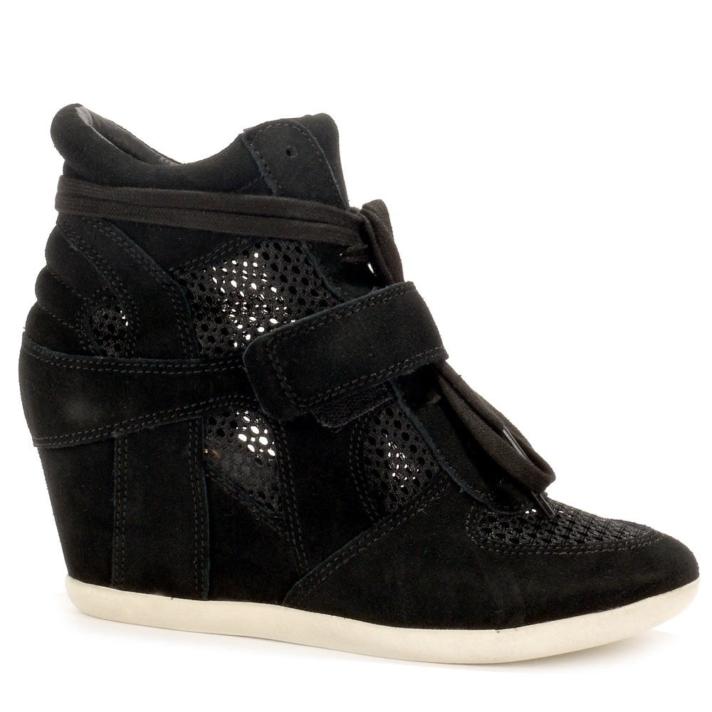 High Bowie Mesh Wedge Black Trainers Top QCxerBWod