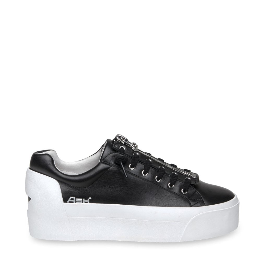 562a53892045 Ash BUZZ Platform Trainers Black Leather