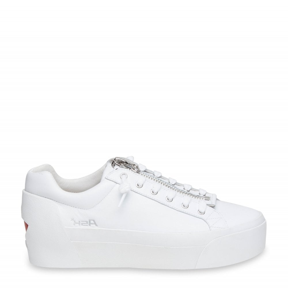 67c0f3be478a Ash BUZZ Platform Trainers White Leather