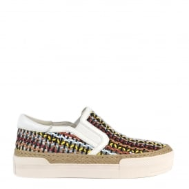 CALI Trainers Multi Coloured Pastel Woven Leather