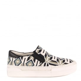 CARTAGENA Slip-On Trainers Knitted Tribal Print