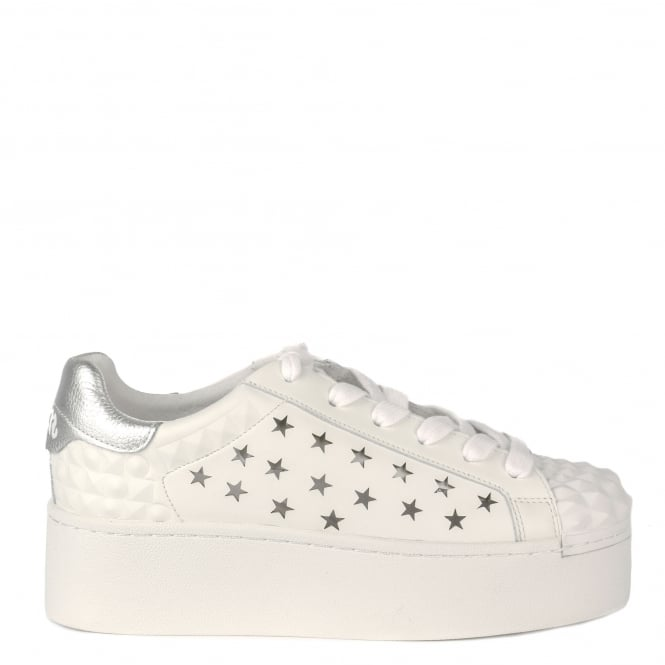 Ash CIRCUS Star Pattern Trainers White Leather