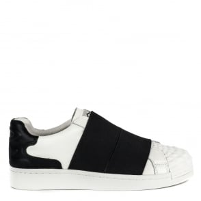 Ash CLIP Trainers White & Black Leather