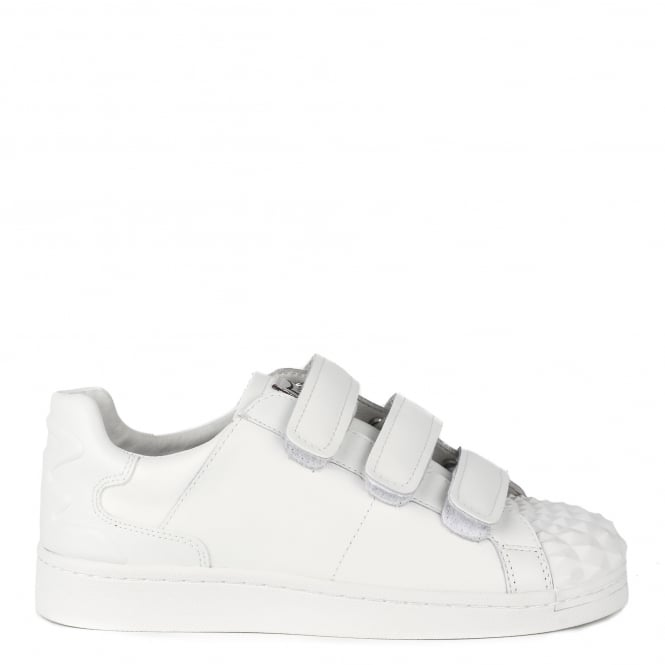 Ash CLUB Velcro Trainers White Leather Rubber Toe Cap