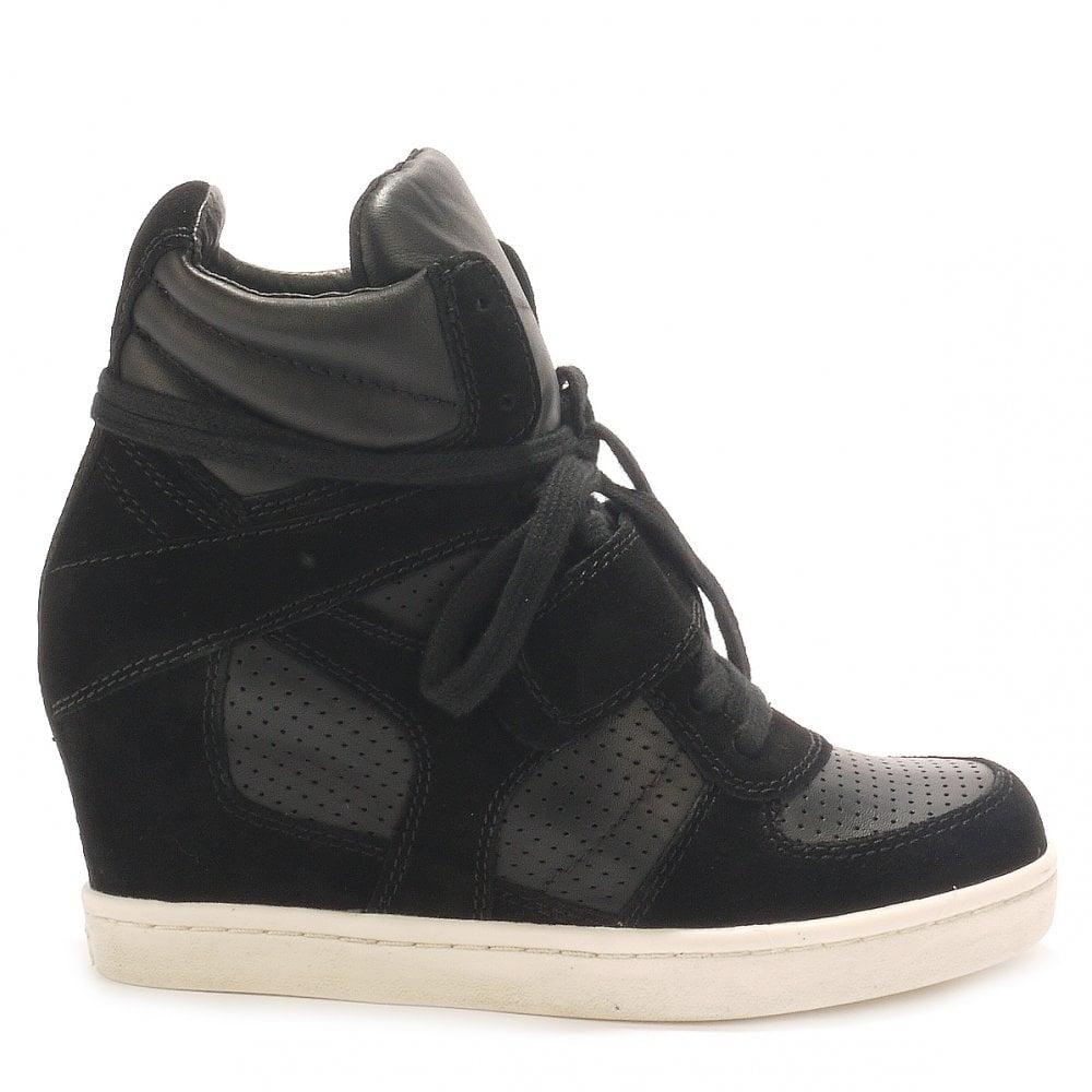 Ash COOL black suede \u0026 leather high-top