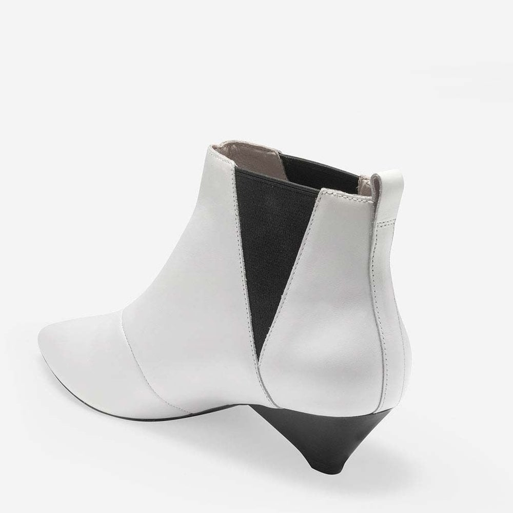 6202f7735 Ash Cosmos White Leather Ankle Boots