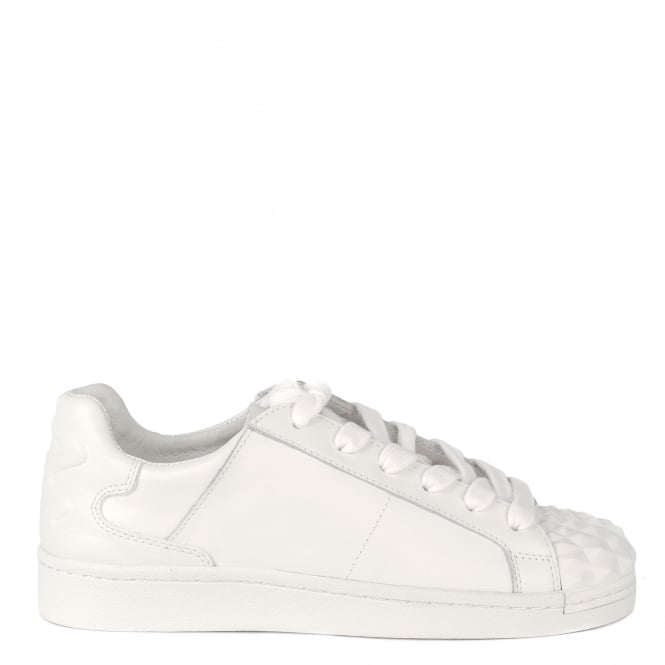 Ash CRACK Trainers White Leather Rubber Toe Cap