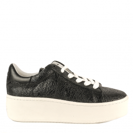 CULT BIS Trainers Black Crack Leather