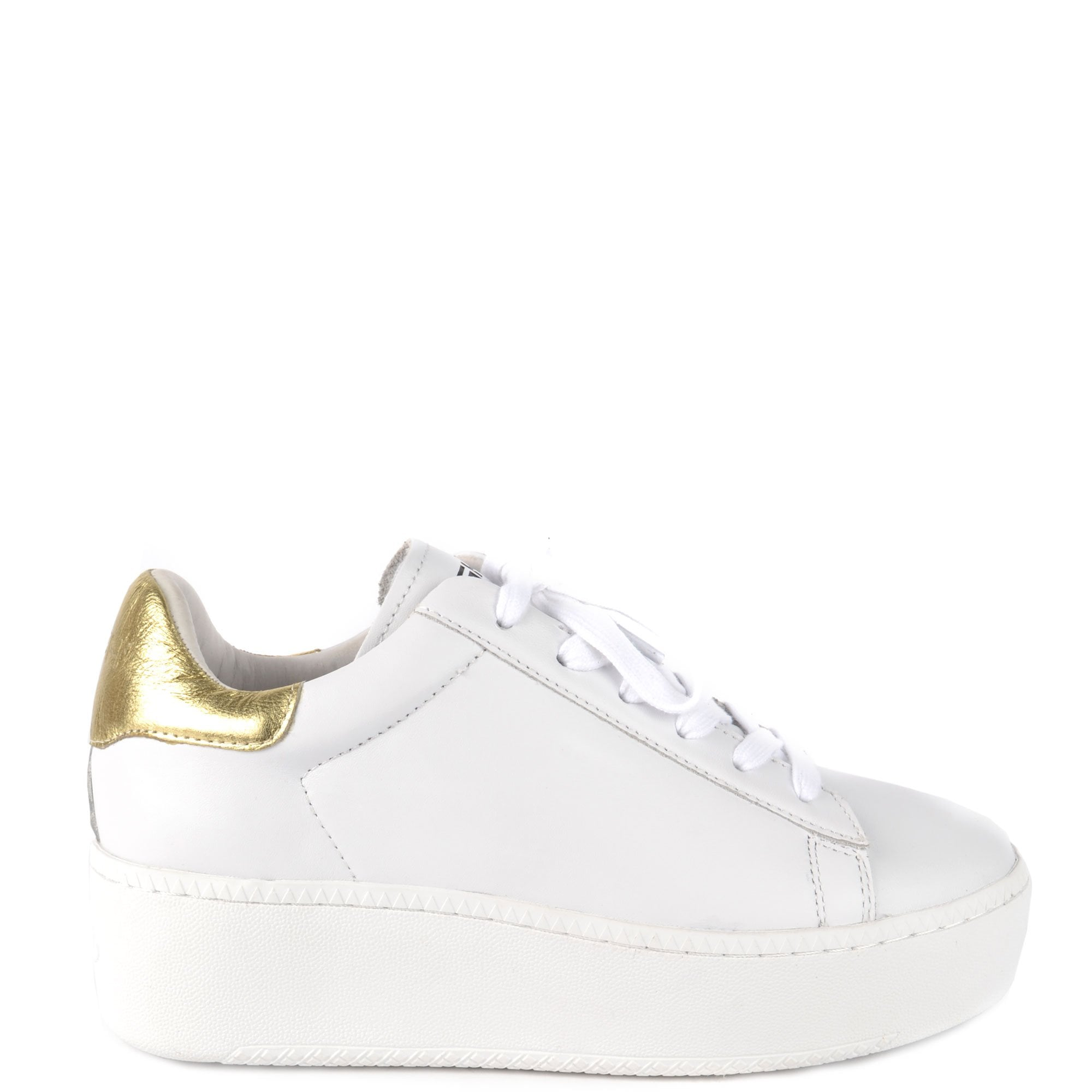 CULT Trainers in White Leather \u0026 Gold