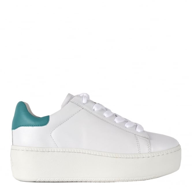 Ash CULT Trainers White & Turquoise Leather
