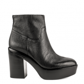 DAKOTA Heeled Boots Black Leather
