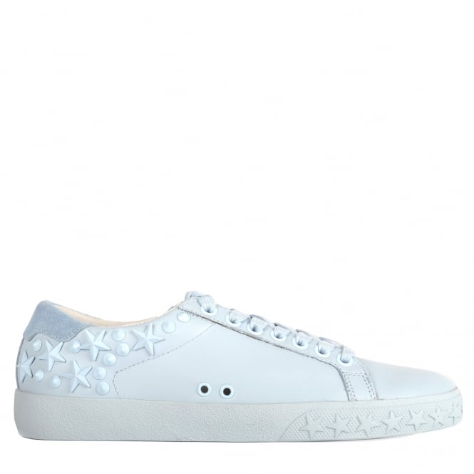 Ash DAZED Trainers Ice Blue Leather & Suede