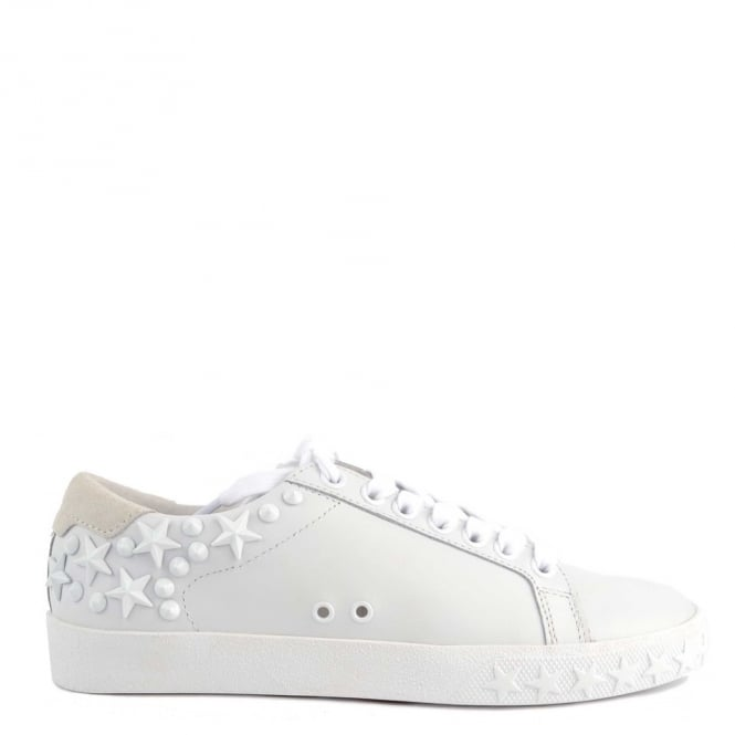 Ash DAZED Trainers Snow White Leather & Suede