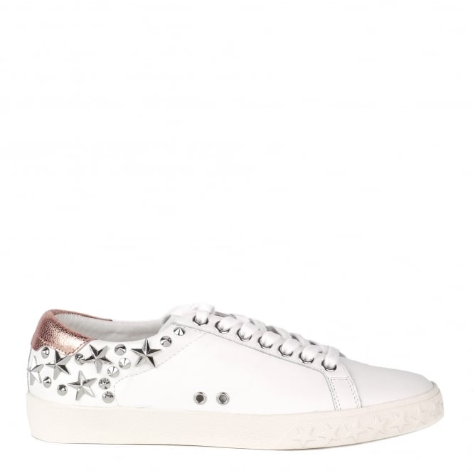Ash DAZED Trainers White & Metallic Pink Leather