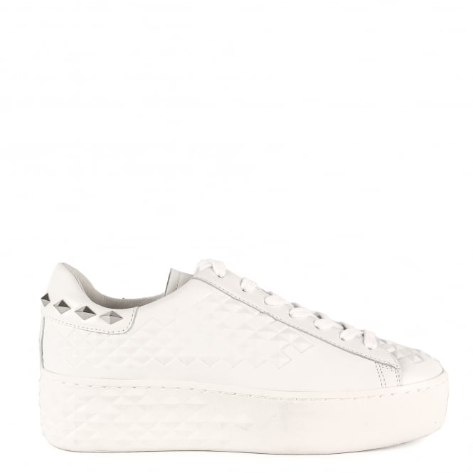 Ash DEJAY Studded Trainers White Leather