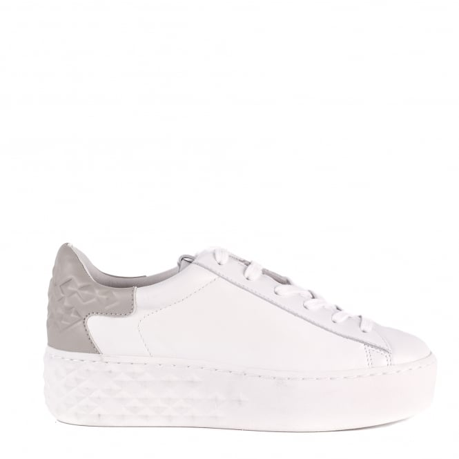 Ash DETOX Studded Sole Trainers White & Grey Leather