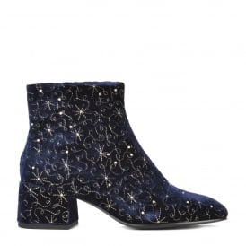DIAMOND BIS Boots Midnight Blue Velvet