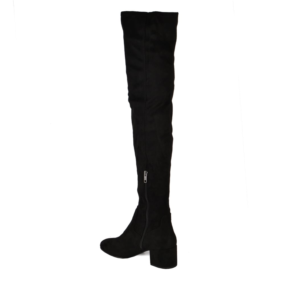 29169baf676 Shop Thigh High Boots At Ash - Diva Boots In Black Faux Suede Online