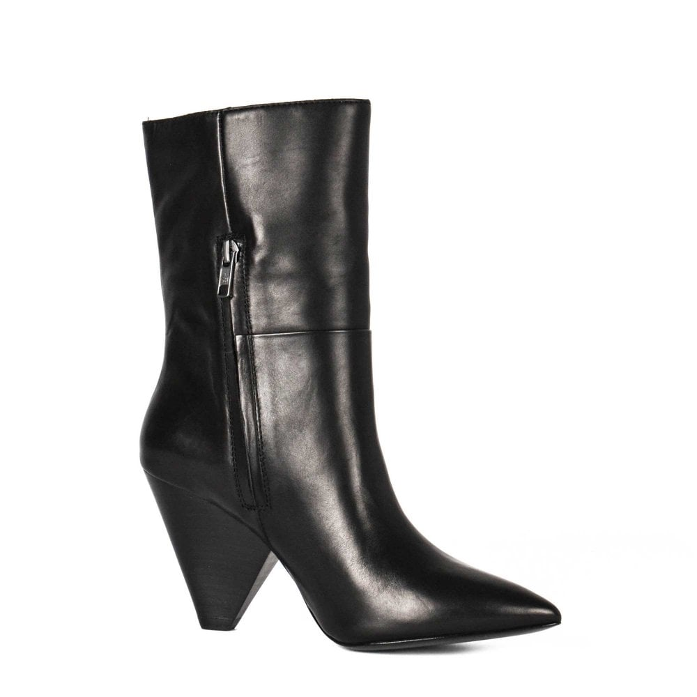 b0472a72a54 DOLL Mid Calf Boots Black Leather
