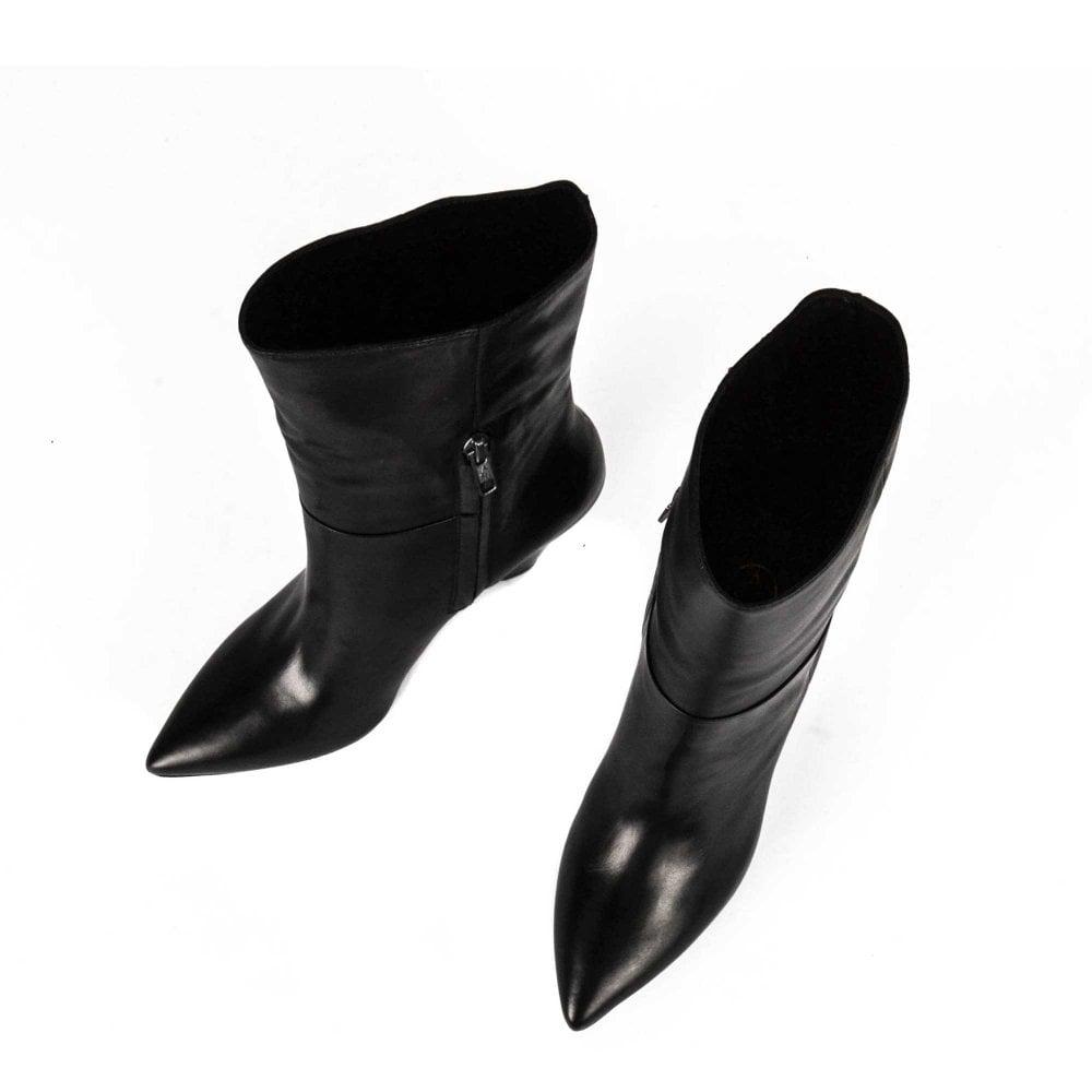 a0e49fee030f DOLL Mid Calf Boots Black Leather