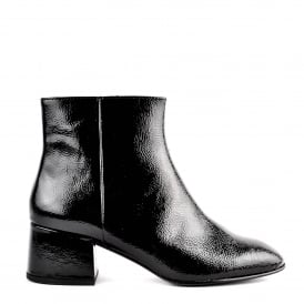 DRAGON BIS Ankle Boots Black Vinyl Leather