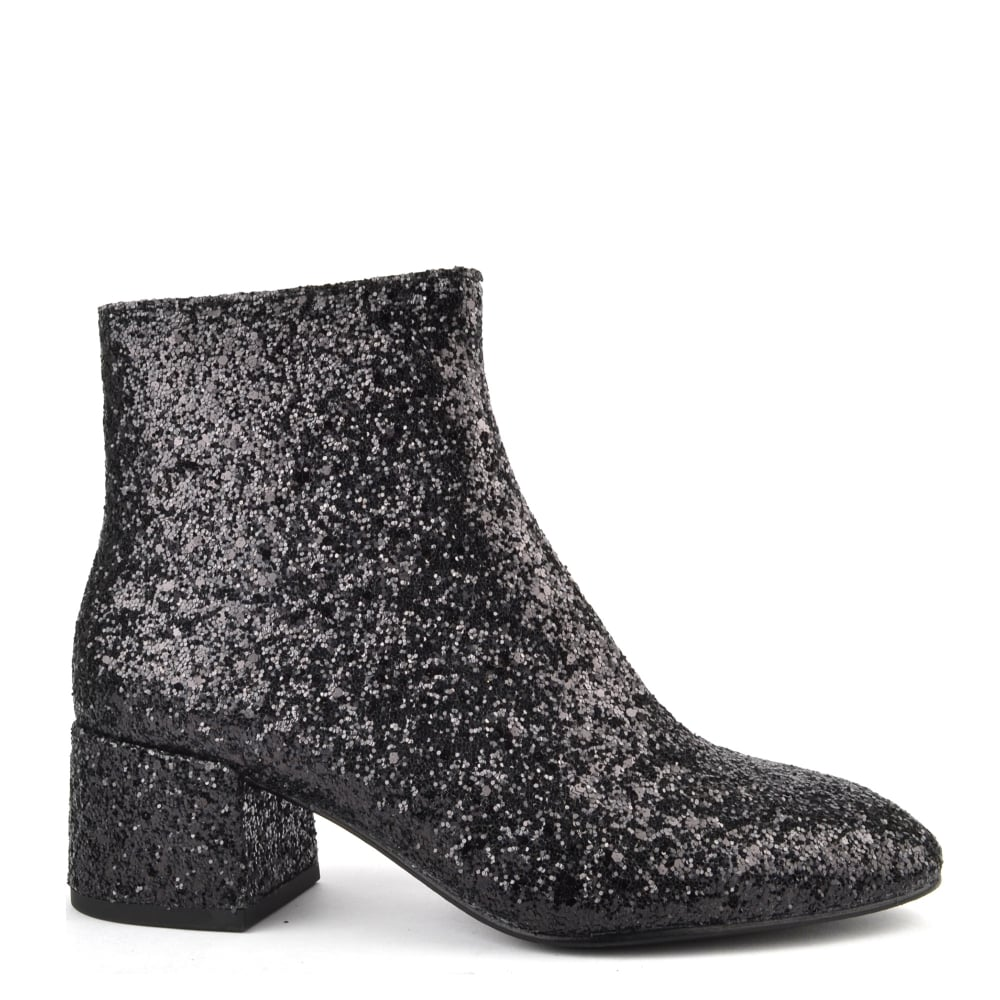 Ash Dragon Boots in Black Glitter Are