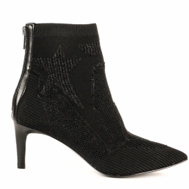 DREAMER Boots Star Patterned Black Knit