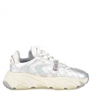 bd4d06374317 Ash EXTREME Trainers Silver Leather   Mesh