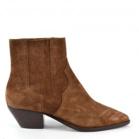 detailed look d5153 4d62f FUTURE Ankle Boots Russet Suede
