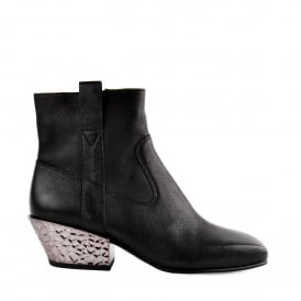 GANG BIS Boots Black Leather & Silver